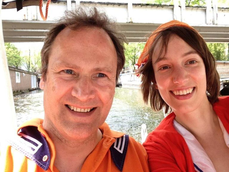 Paap and Carla in orange for king's day